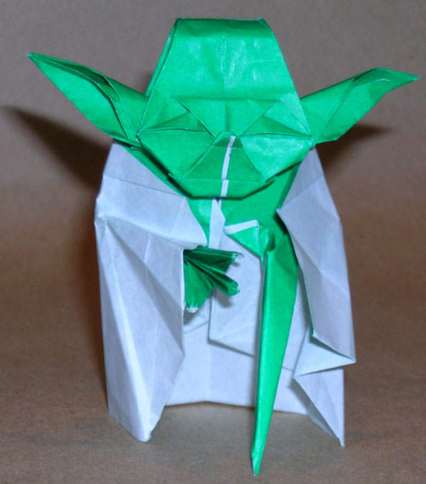 3d easy origami for kids: how to make origami yoda | 700x616