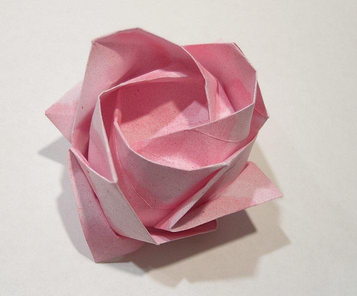 Origami Videos-Kawasaki Rose on